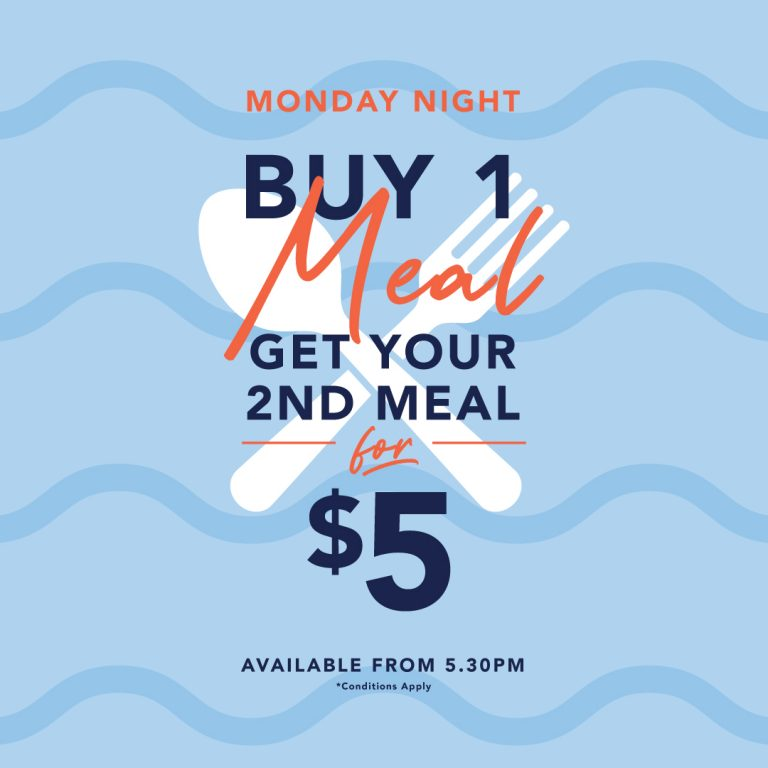 A banner for a Monday night offer at The Cavill Hotel.