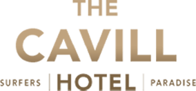A picture of the logo of The Cavill Hotel on a transparent background.